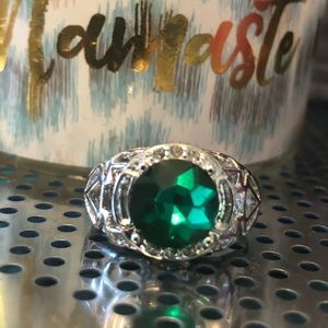 (L2)💚S925 SS 3.6CT  Emerald Ring/Birthstone 💚